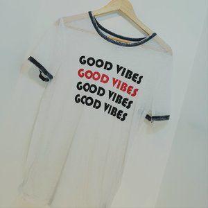 2/$40 M lightweight GOOD VIBES Tshirt